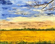 Field of gold by Linda Bagnelle